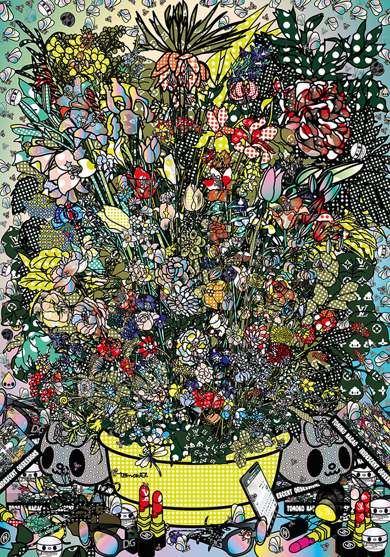 FLOWERS 3 AFTER JAN BRUGHEL ELDER WITH DOLCE GABBANA SHISEIDO CHANEL LUOSVUITTON 2018 DIGITAL CONTENTS ITALIA